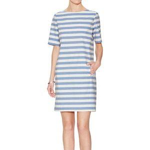 Steven Alan Soren Stripe Shift Dress Blue White P